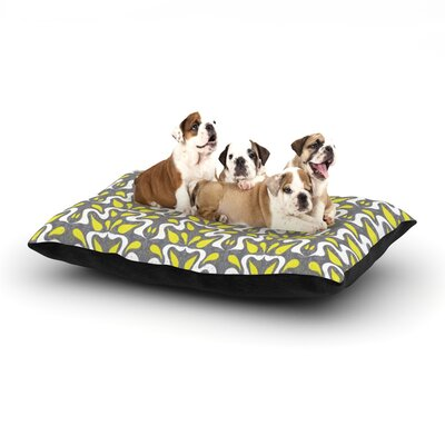 """Miranda Mol 'Cascade' Dog Pillow with Fleece Cozy Top Size: Small (40"""" W x 30"""" D x 8"""" H)"""
