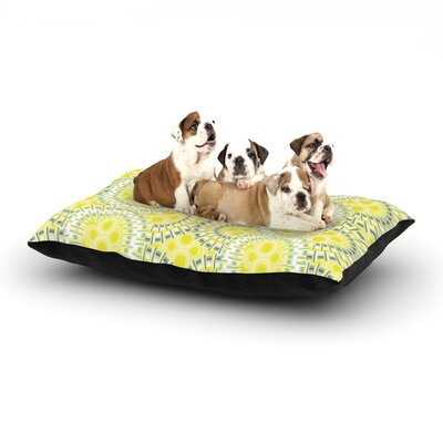 """Miranda Mol 'Blossoming Buds' Dog Pillow with Fleece Cozy Top Size: Small (40"""" W x 30"""" D x 8"""" H)"""