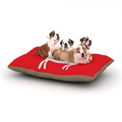 """Miranda Mol 'Reindeer Red' Holiday Dog Pillow with Fleece Cozy Top Size: Small (40"""" W x 30"""" D x 8"""" H)"""