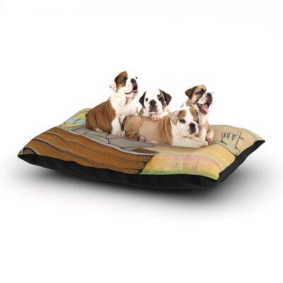 "Matthew Reid 'Drifting' Dog Pillow with Fleece Cozy Top Size: Small (40"" W x 30"" D x 8"" H)"