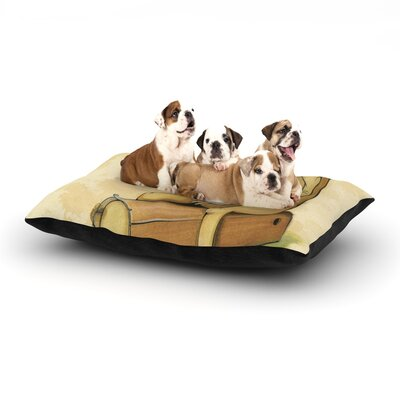 """Matthew Reid 'In All the While' Dog Pillow with Fleece Cozy Top Size: Small (40"""" W x 30"""" D x 8"""" H)"""