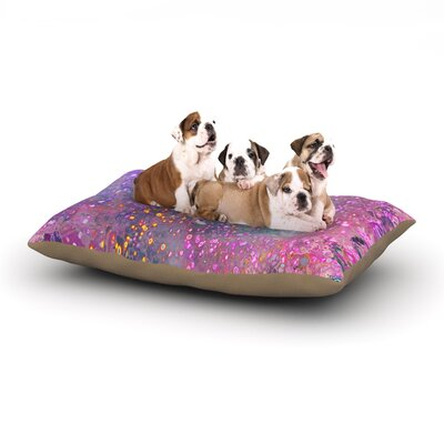 """Marianna Tankelevich 'Pink Universe' Dog Pillow with Fleece Cozy Top Size: Small (40"""" W x 30"""" D x 8"""" H)"""