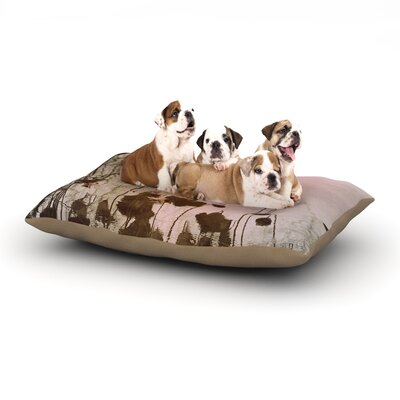 """Marianna Tankelevich 'Lotus Dream' Flower Dog Pillow with Fleece Cozy Top Size: Small (40"""" W x 30"""" D x 8"""" H)"""