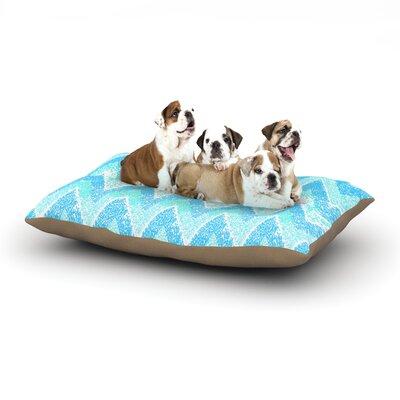 "Marianna Tankelevich 'Mint Snow Chevron' Chevron Dog Pillow with Fleece Cozy Top Size: Small (40"" W x 30"" D x 8"" H)"