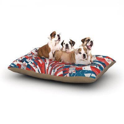 """Danny Ivan 'Feel Again' Dog Pillow with Fleece Cozy Top Size: Small (40"""" W x 30"""" D x 8"""" H)"""