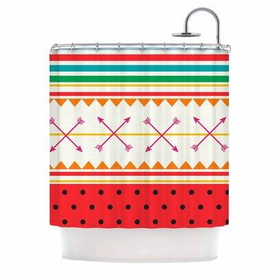 Famenxt Watermelon Arrows and Colors Shower Curtain