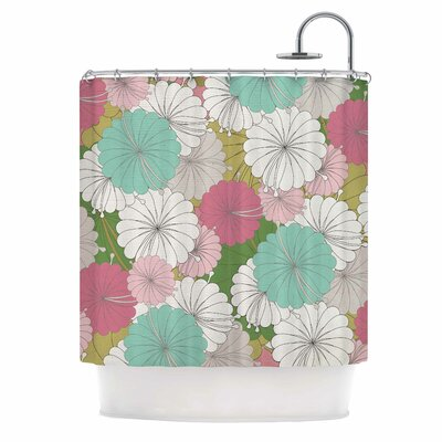 Michelle Drew Parasol Flowers Abstract Shower Curtain