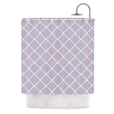 Lilac Web Shower Curtain