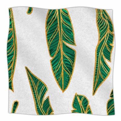 Banana Leaf Gold Digital Fleece Blanket