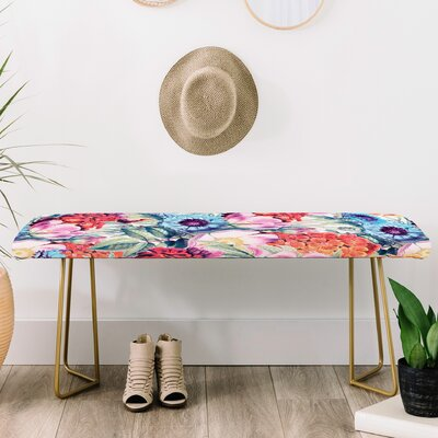 83 Oranges Faux Leather Bench