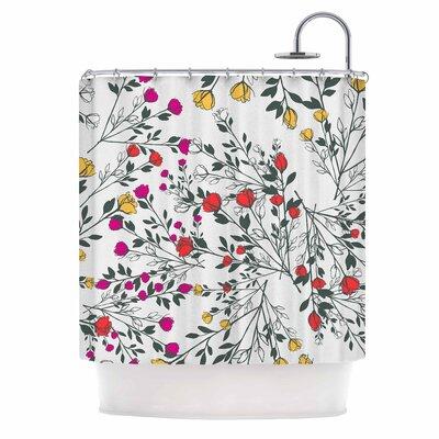 Famenxt Rose Blossom Garden Shower Curtain