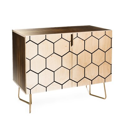 Honey Comb 2 Doors Accent Cabinet