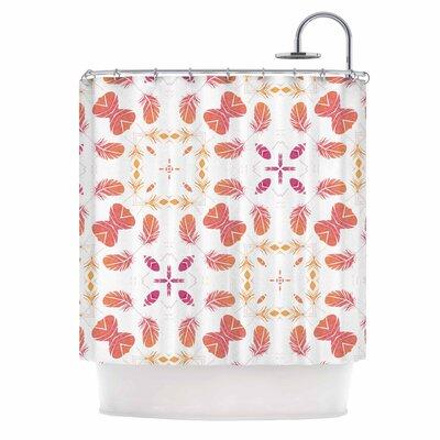 Alison Coxon Aztec Feather Repeat Digital Shower Curtain