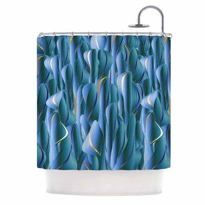 Angelo Cerantola Luscious Digital Shower Curtain Color: Blue/Orange