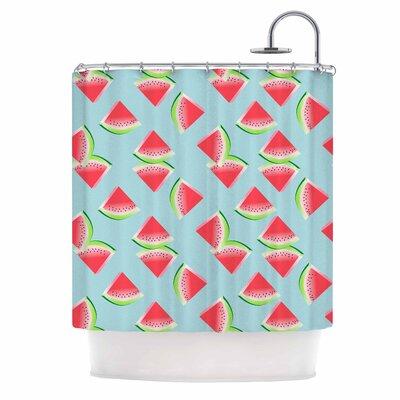 Afe Images Watermelon Slices Illustration Shower Curtain