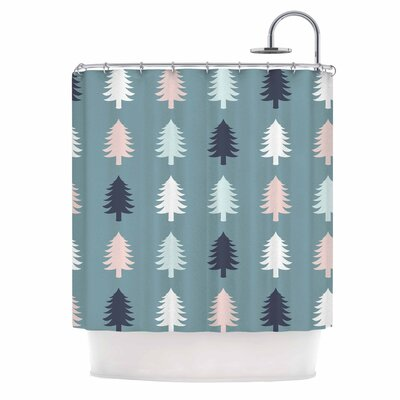 Afe Images Christmas Tree Digital Shower Curtain