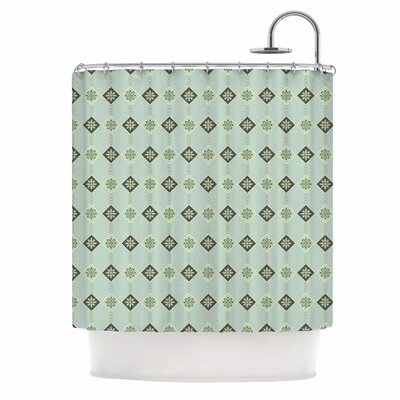 Afe Images Triangles and Flowers Illustration Shower Curtain