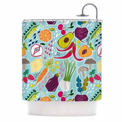 Agnes Schugardt Garden Song Food Shower Curtain