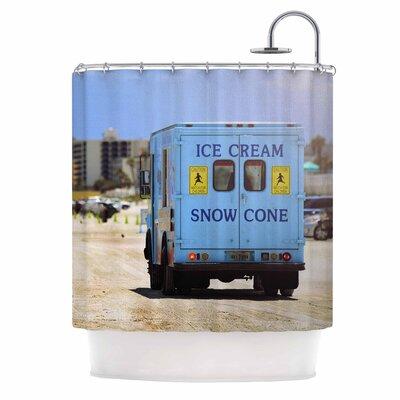 Angie Turner Ice Cream Truck Shower Curtain