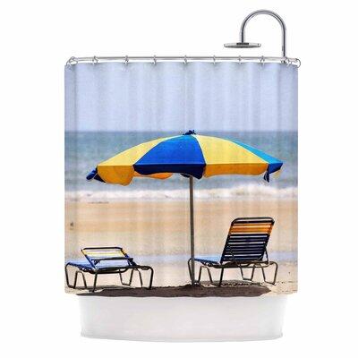 Angie Turner Umbrella Coastal Photography Shower Curtain