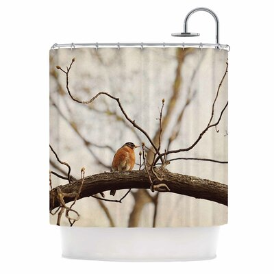 Angie Turner Spring Robin Shower Curtain