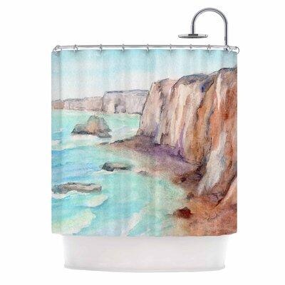 Cyndi Steen Cliffs At Normandie Shower Curtain