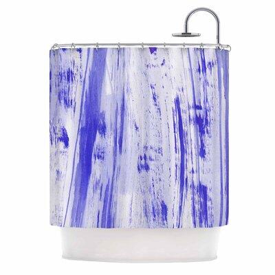 Danii Pollehn indigo Stripes Shower Curtain