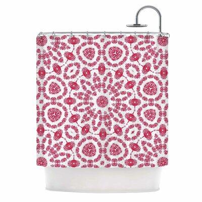 Alison Coxon Ruby Mandala Digital Shower Curtain