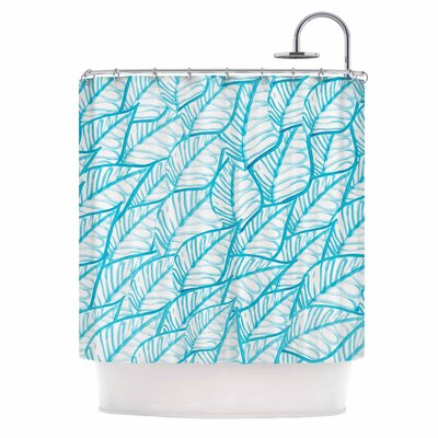 Danii Pollehn Leaves Illustration Shower Curtain