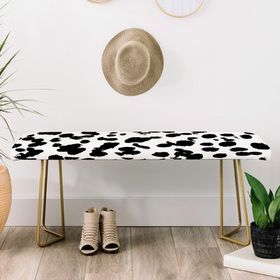 Amy Sia Faux Leather Bench