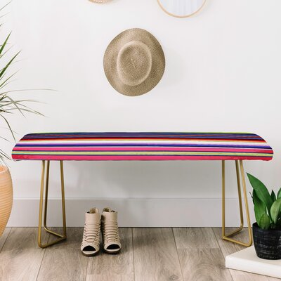 Deb Haugen Faux Leather Bench