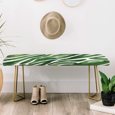 Elena Blanco Faux Leather Bench