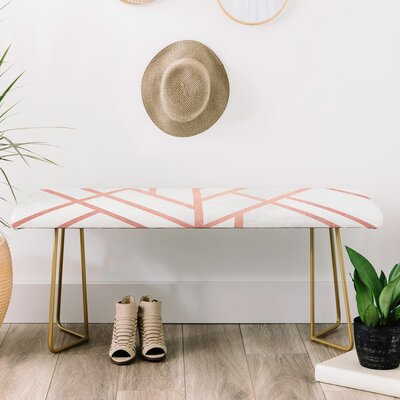 Faux Leather Bench