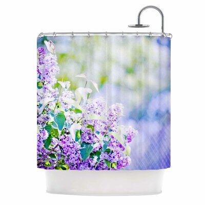 'Hazy Purple Flowers' Nature Shower Curtain