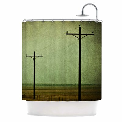 'Electric' Digital Shower Curtain