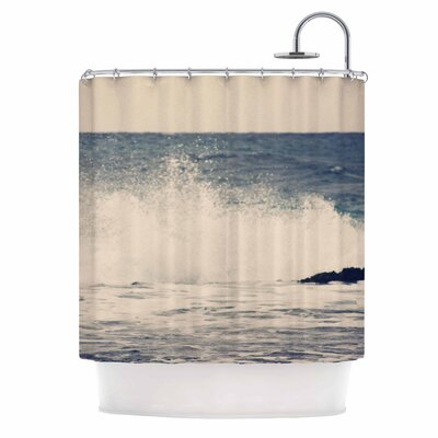 'Crashing Waves 2' Coastal Shower Curtain