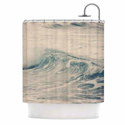 'Waves 1' Coastal Shower Curtain