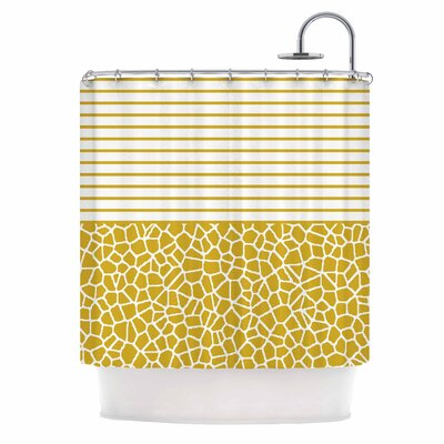 'Staklo (Gold)' Digital Shower Curtain