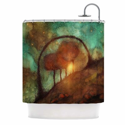 'Track 28: Sunset and Dreams II' Shower Curtain