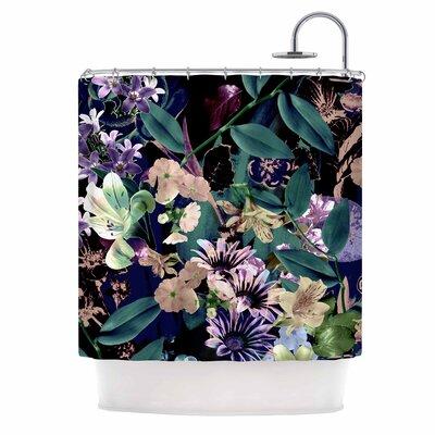 'Midnight Garden' Digital Shower Curtain