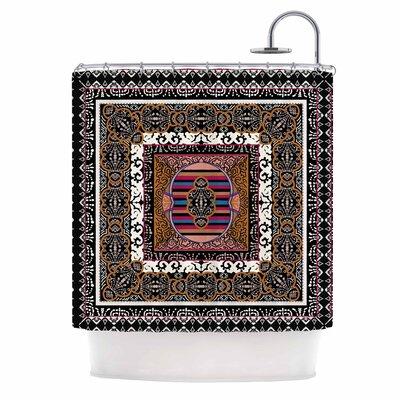 'Tibet Mandala' Illustration Shower Curtain