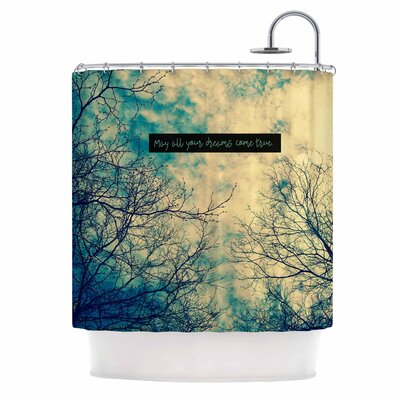 'May All Your Dreams Come True' Nature Shower Curtain