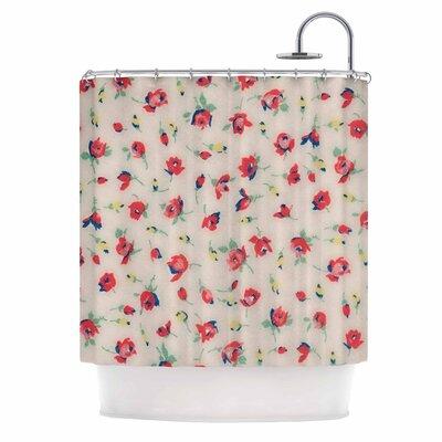 'Vintage Flower Love' Shower Curtain