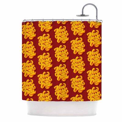 'New York City Brush Pattern' Vector Shower Curtain
