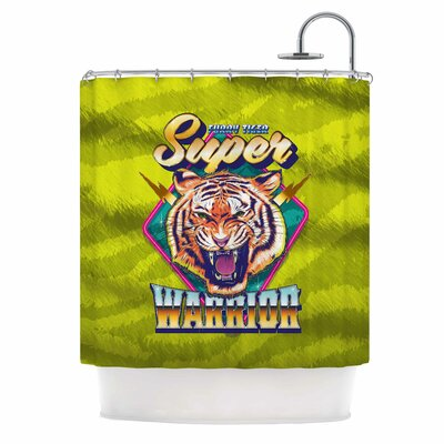 'Super Furry Tiger Warrior' Shower Curtain