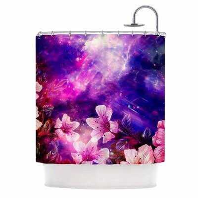 'Space Flowers' Shower Curtain