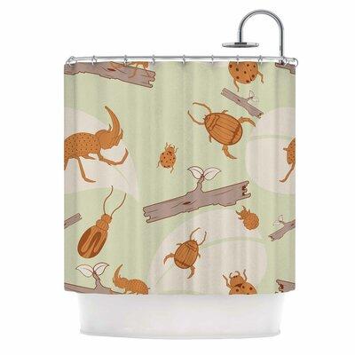 'Beetles' Nature Shower Curtain