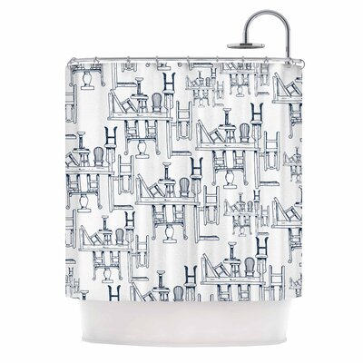 'Tables & Chairs' Shower Curtain