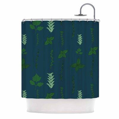 'Herb Garden' Illustration Shower Curtain