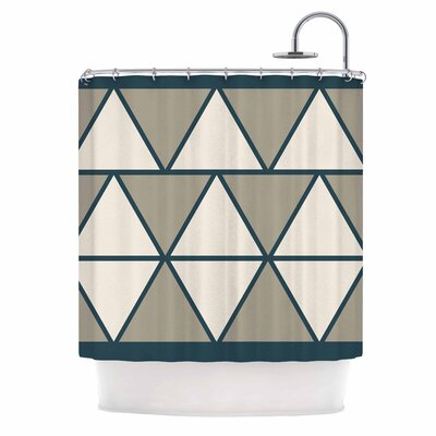 'Triangles' Shower Curtain Color: Sandstone/Beige
